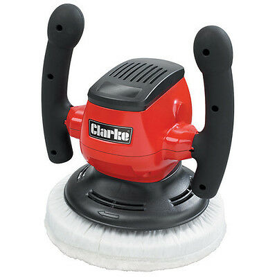 Clarke Car Polisher with 3 Polishing and 2 Waxing Bonnets 230V,  CP254