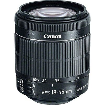 NIB Canon EF-S 18-55mm f/3.5-5.6 IS STM Lens NEW with Front + Rear Caps