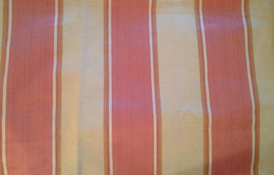 Robert Allen Juxtapose Woven Pink & Maize Multi Stripe Upholstery Fabric *ITALY*