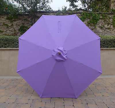 9ft Umbrella Replacement Canopy 8 Ribs in Lavender (Canopy Only)