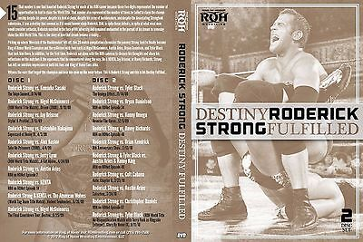 RING OF HONOR RODERICK STRONG DESTINY FULFILLED AUTOGRAPHED , PWG, ROH,  2 DVD