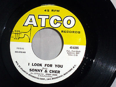 Sonny & Cher: I Look For You / What Now My Love  [Unplayed Copy]