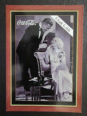 1995  COCA-COLA  CLARK GABLE & JEAN HARLOW   H-2  trading card