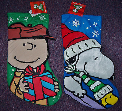 Peanuts Snoopy OR Charlie Brown 3D Christmas Stocking---Choose 1