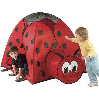 Ladybug Play Tent House Huts Tunnels Indoor Outdoor Kids Boys Girls Toys Gift