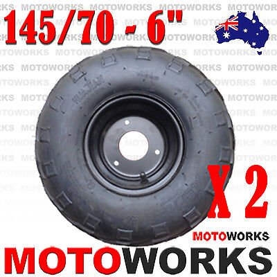 "2 x 145/70 - 6""inch Front Rear Wheel Rim Tyre Quad Dirt Bike ATV Buggy Gokart"
