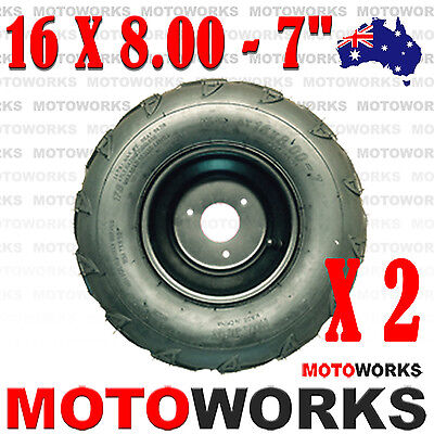 "2x 16 X 8.00- 7"" inch Front Rear Wheel Tyre Tire Quad Dirt Bike ATV Buggy Gokart"