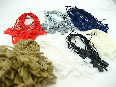 assorted Clothing Tag String Lock Fastener Labeling Tagging Supplies square end