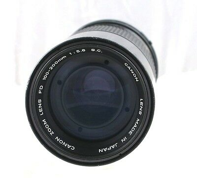 Canon FD Zoom 100-200mm F/5.6 S.C. Manual Focus Lens Exc
