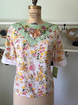 Supayana Anthropologie Fox Shirt sz L