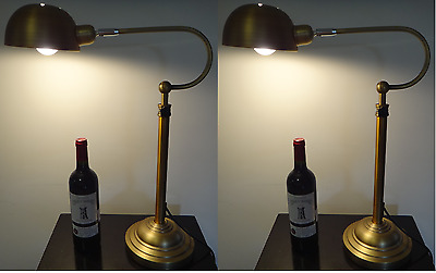Pair of New Traditional Style Classic Antique Bedside Table Lamp