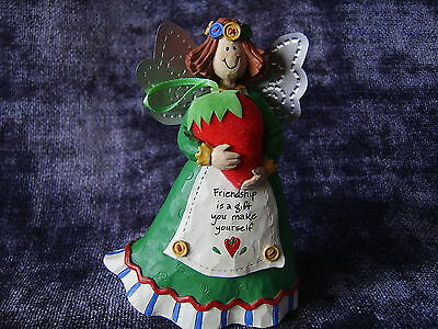 Gooseberry Patch Strawberry Friendship Angel with buttons - Cannon Falls