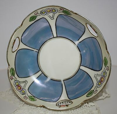 MEITO LUSTERWARE CHINA MAGNIFICENT PEARLESCENT - IRRODESCENT - HANDLED BOWL