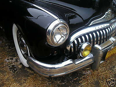 PAIR OF VINTAGE STYLE BULLET HEAD LIGHT COVERS !