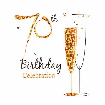 70th Birthday party invitation cards, Inc. envelopes. 6 Pack Simon Elvin Qlty