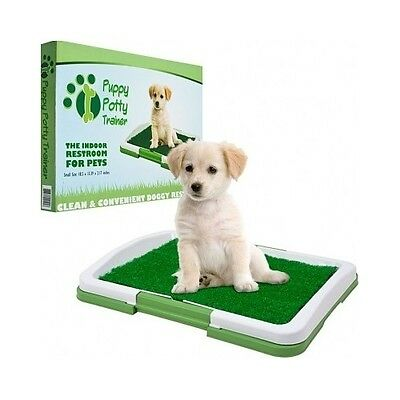 Indoor Puppy Potty Training Grass Mat Pee Poo Pad Dog Trainer Patch Pet Toilet