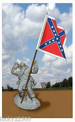 CONTE CIVIL WAR SOLDIER AND FLAG-Wounded CONFEDERATE