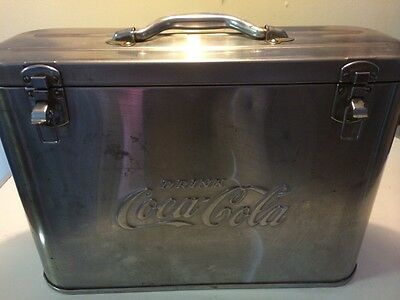 1950's coke coca-cola cavalier jr. Stainless steel airline cooler vintage rare