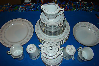 """Vintage """"M""""  Fine China Of Japan # 5555--44 Pc. China Set for 8"""