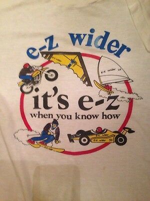 Very RARE EZ WIDER Mailaway T-SHIRT-HTF-POP CULTURE GEM-BAMBOO 420 OLD SCHOOL