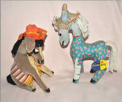 Vintage Dakin Dream Pets Donkey & Horse with Bandage with Tag