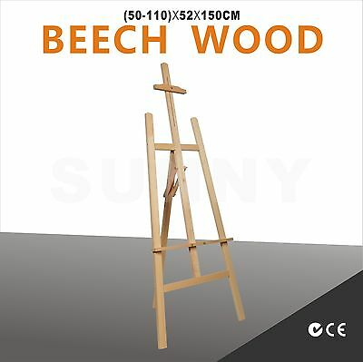 NEW Beech Wood Lyre Artist Painting Easel Wedding Shop Wooden Display Stand