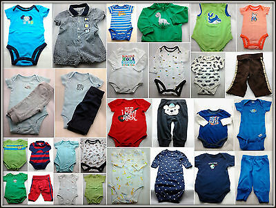 Baby Boy Clothing Lot of 31 Pcs. Carter's, Garanimals & More, Szs. 0-3M up to 9M