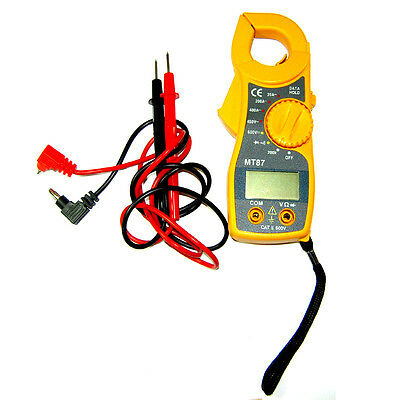 LCD Digital Multimeter Electric Clamp Ampere Ohm AC DC Voltage Tester MT87