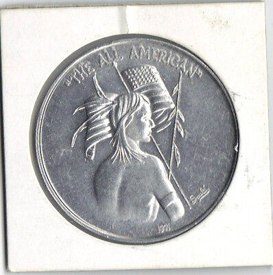 """Will Soule,New Orleans Mardi Gras Doubloon,1971,Native""""THE ALL AMERICAN"""""""