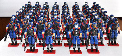 GI Joe COBRA VIPER PIT huge army builder lot of 60 Vipers MINT 100% complete
