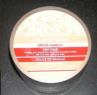 The Body Shop Scrub SPICED VANILLA Body SCRUB 6.9 o 200 LARGE