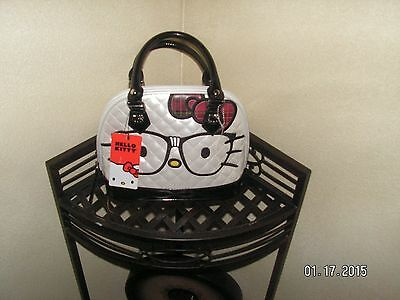 AUTHENIC NWT Loungefly's Hello Kitty Nerd Face Ivory/Red/Black Shoulder Bag