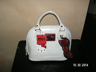 LOUNGEFLY HELLO KITTY White Authentic  Patent Leather Handbag with Tags