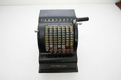 Antique American Black Adding Machine Model Five Mercantile Country Store Works