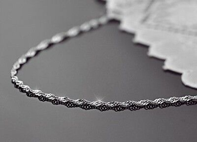 Wave Chain Necklace -- Sterling Silver -- 1.4mm* (18 inch*)  [7ea]