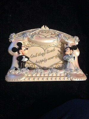 Disney MICKEY & MINNIE MOUSE Bride & Groom Wedding Picture Photo Frame
