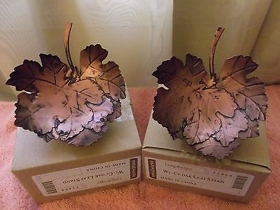 Two Longaberger Collectors Club Oak Leaf Stands NEW