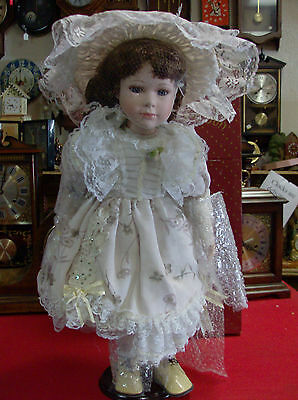 Swan Collection Porcelain Doll   New In Box