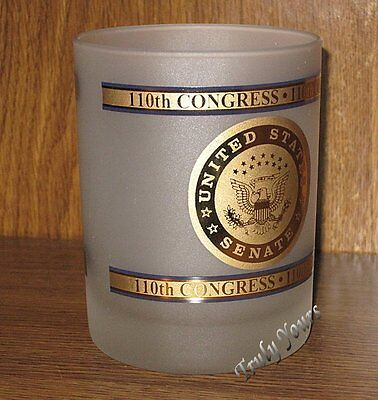 UNITED STATES SENATE 110th CONGRESS 12 Oz Frosted Rocks Lowball Cocktail Glass