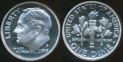 United States, 2003-S Dime, Roosevelt (Silver) - Proof