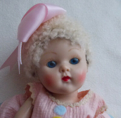 """Vogue Strung Ginny Doll 1952 Caracul Wig in """"Connie"""" #25 Dress for Easter"""