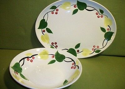 American Heritage Stetson Vintage Platter & Bowl China Hand Painted Florals !