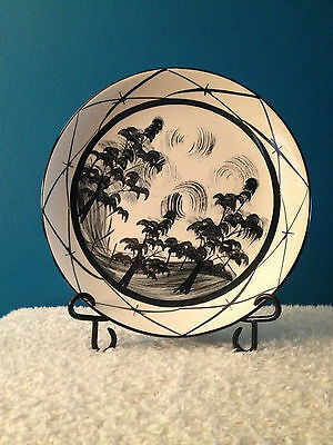 "Gail Pittman ""Toile-Black"" Pattern 11-1/4"" Service Plate/Charger   2001-2006"