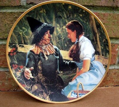 """1988 WIZARD of OZ """"Dorothy Meets the Scarecrow"""" 50TH ANNIVERSARY PLATE Hamilton"""