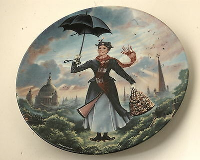 Walt Disney Mary Poppins Knowles 1989 Collector Plate no. 17764A, 1st issue