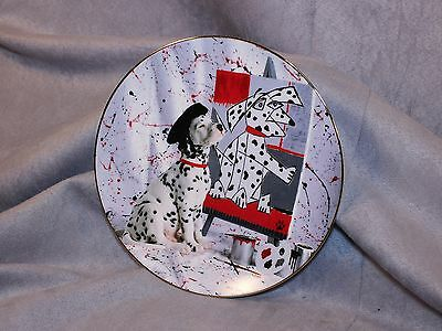 Comical Dalmations Numbered Plate Hamilton Collection 1996 THE MASTER, Ltd Ed.