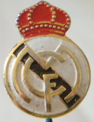 REAL MADRID Vintage Club crest type badge Stick pin 13mm x 18mm