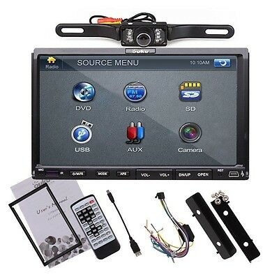 """HD Double 2 DIN In Dash 7""""Touch Radio Car CD DVD MP3 Player Stereo + Rear Camera"""