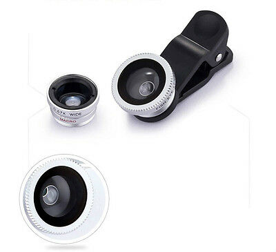 Universal 3 In1 Fisheye Macro Wide Angle Mobile Phone Camera Lens Clip Set