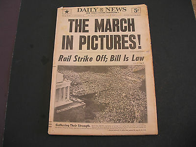 March on Washington Aug. 29 1963 NY Daily News Newspaper Martin Luther King